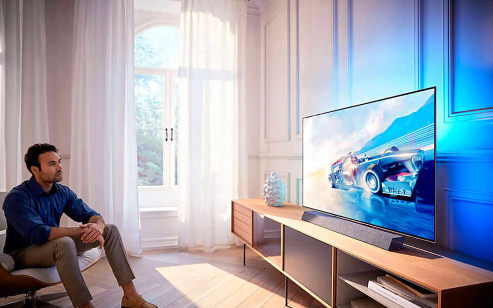 Philips 4K OLED tv met Bowers & Wilkins